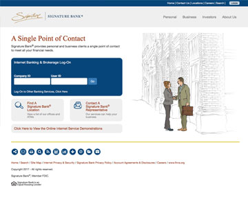 Signature Bank Website